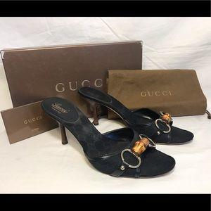 👠 SALE!!! GUCCI women's black heels shoes
